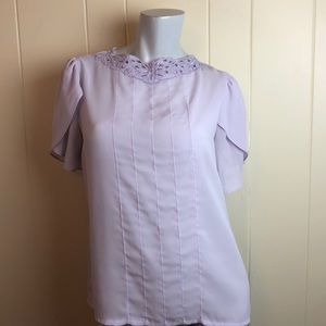 Vintage 70s/80s Lilac Career Blouse